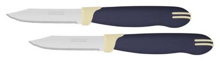 Ножи для овощей 7,5 см, 2 ножа, в блистере Multicolor (И7636) Tramontina