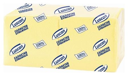 Салфетки бумажные Luscan Profi Pack 1сл24х24 пастельжелтые400 шт/уп  Luscan