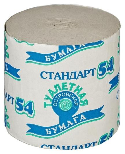 Бумага туалетная 1-сл.островская б/втулки сер 50м,24рул/уп.  Островская