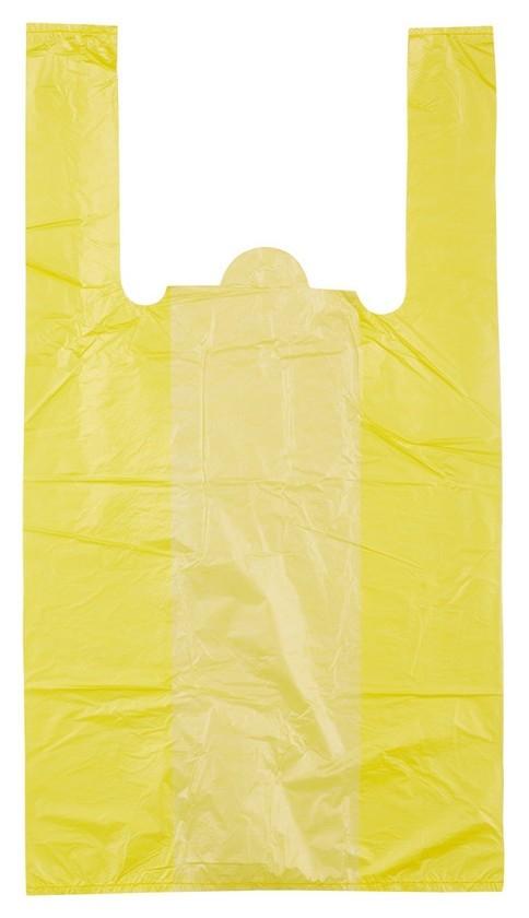 Пакет майка ПНД 30+18х55 15мкм 100шт./уп. цветной  Знак качества