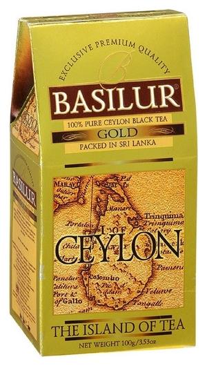 Чай Basilur остров золотой листовой черный, 100г 70248  Basilur