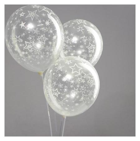 """Набор воздушных шаров 12"""", «Звёзды» 25шт, вензеля  Страна Карнавалия"""