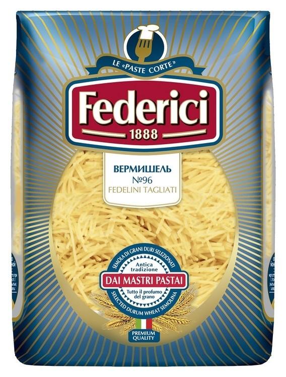 Макароны Federici вермишель (Fedelini Tagliati) №096, 500г  Federici