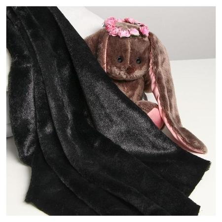 Лоскут для рукоделия 50*50см мех цвет черный Страна Карнавалия