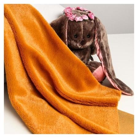 Лоскут для рукоделия 50*50см мех цвет рыже--коричневый Страна Карнавалия