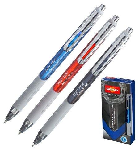Ручка шариковая Unimax TOP TEK Fusion, синий ст., автом., корпус  Unimax