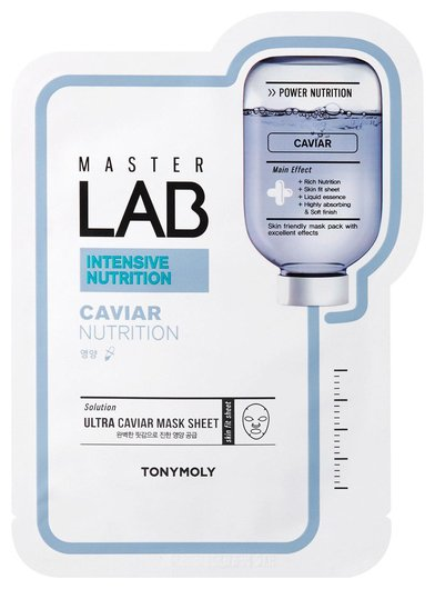 Маска с черной икрой Master Lab Collagen Mask Sheet  Tony Moly