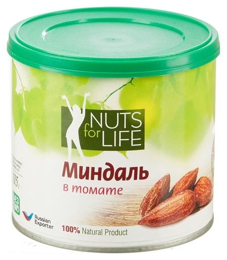 Миндаль Nuts For Life обжаренный с томатом, 115г  Nuts for Life