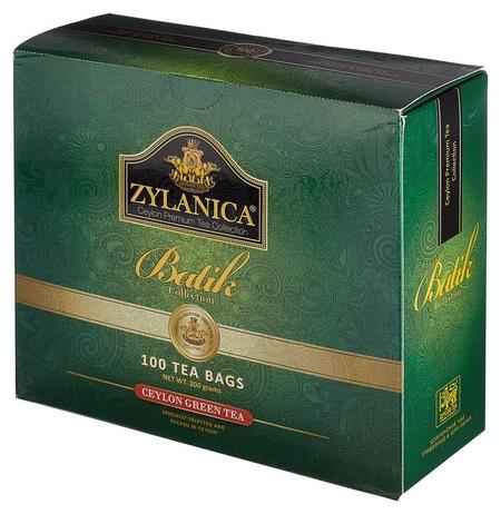 Чай Zylanica Batik Design зеленый, 100 пакx2гр/уп  Zylanica