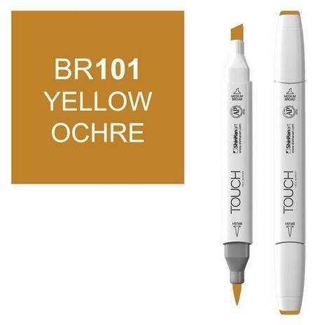 Маркер Touchbrushдвухстороннийцв.101охра желтая, 1210101  Touch