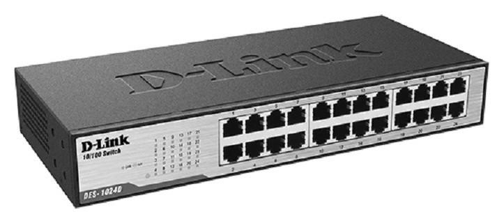 Коммутатор D-link Des-1024d/g1a 24x100mb неуправляемый  D-Link