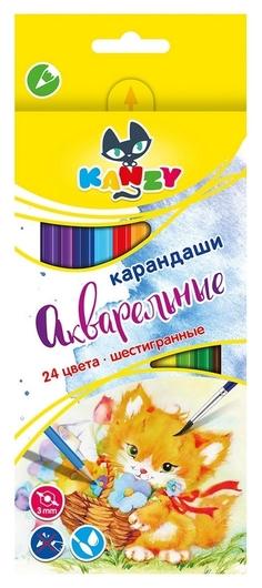 Карандаши цветные акварельные 24 цв 6-гран, ВКФ Мой друг котёнок,wcp- 2024  ВКФ