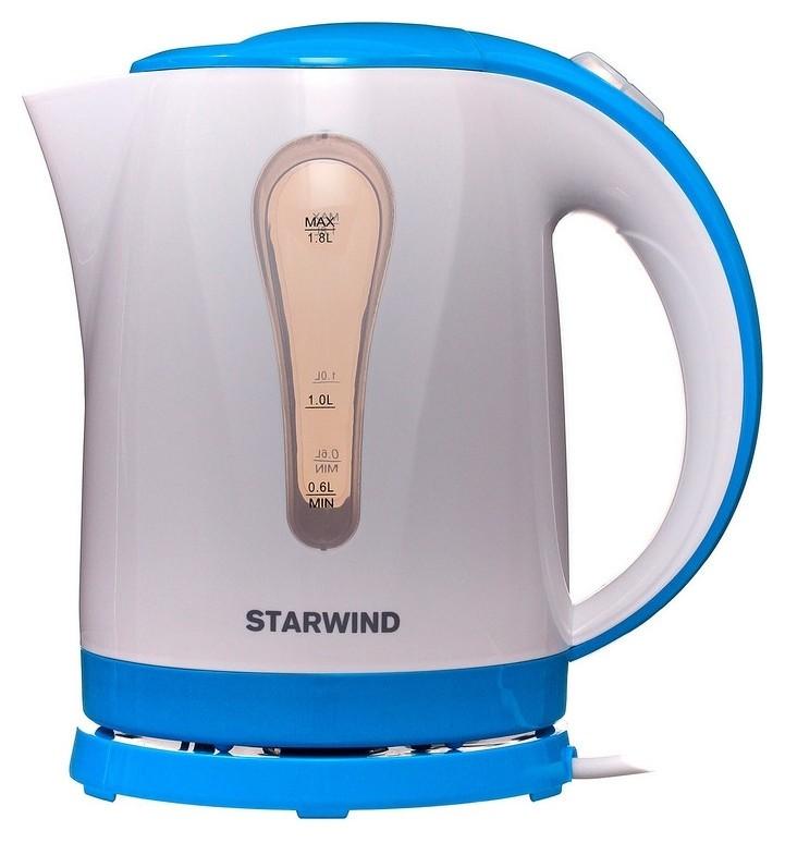 Чайник Starwind Skp1217 1.8л. 2200вт белый/голубой (Пластик)  Starwind