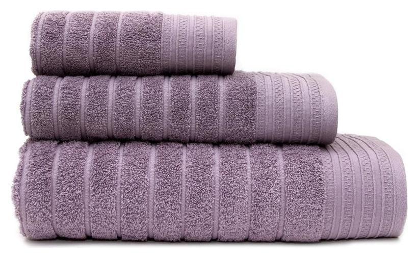 Набор махровых полотенец страйп 30х60,50х90,70х130 серый опал  PiCassa
