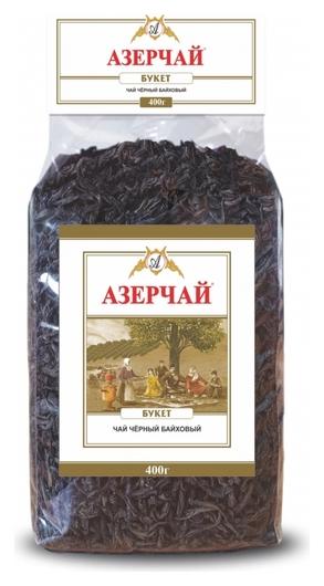 Чай азерчай букет черный крупнолистовой прозрачная упаковка, 400г 413002  Азерчай