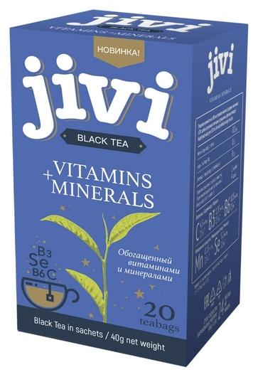 Чай Jivi черный байховый обогащ.витаминами и минералами, 20пак/уп 50-310  Jivi