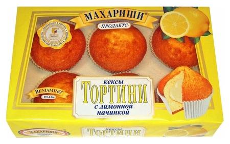 Кекс махариши с лимонной начинкой 200г Махариши
