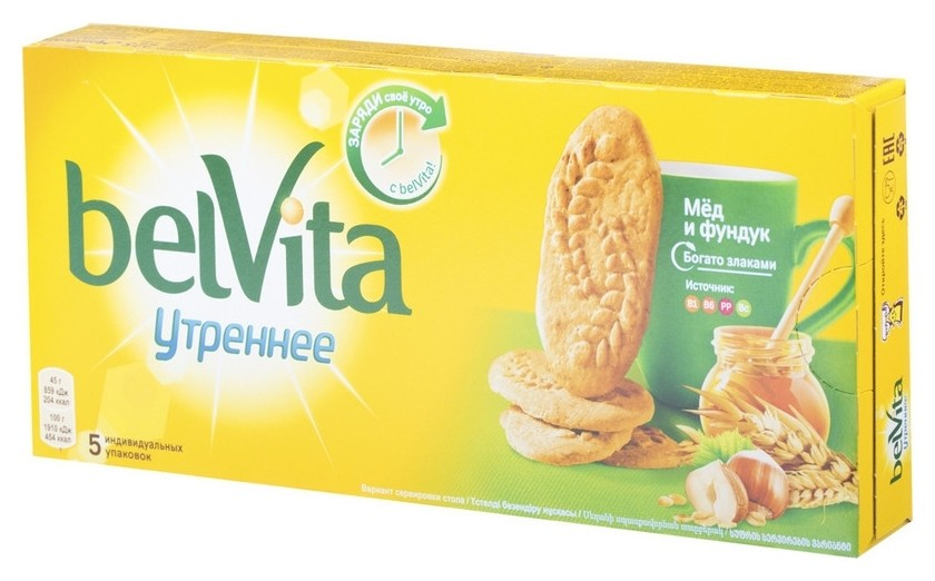 Печенье Belvita утреннее фундук, мед, 225г  BelVita