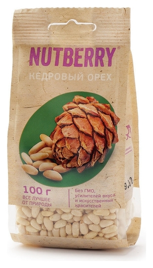 Орехи Nutberry кедровый орех, 100г  Nutberry
