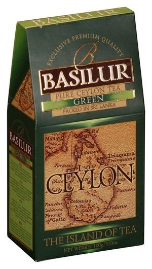 Чай Basilur остров зеленый листовой, 100г 70249  Basilur