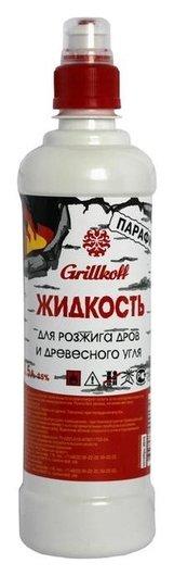 Жидкость для розжига дров и древесного угля парафин, бутылка 0,5 л. 17  Grillkoff