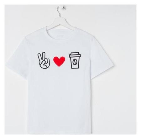 "Футболка женская Kaftan ""Love Coffee"" р. 52-54  Kaftan"