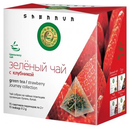 Чай Shennun зеленый с клубникой, 15пак. 14100  Shennun
