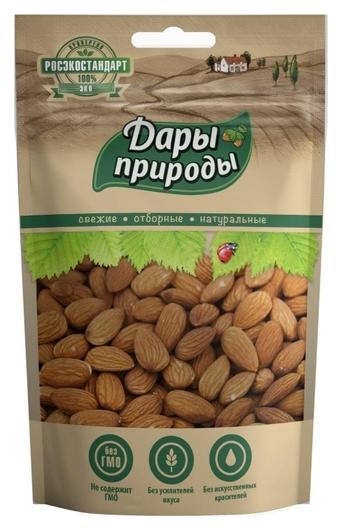 Орехи миндаль дары природы жаренный, 150г  Дары природы