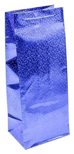 Пакет подарочный голография (14х35х11см) арт: 000lм  Omg-gift