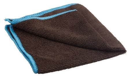 Салфетка для маркерных досок микрофибра чёрная с синим краем 30х30 см пакет  NNB