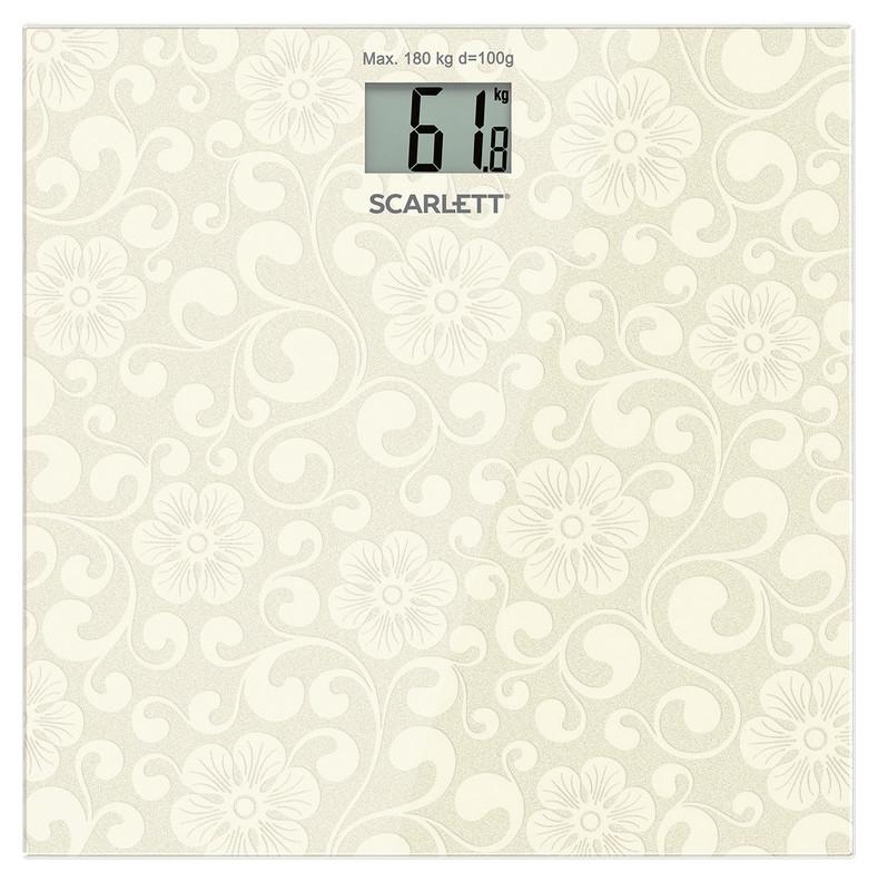 Весы Scarlett Sc-bs33e043, напольные, 180кг, серебро Scarlett