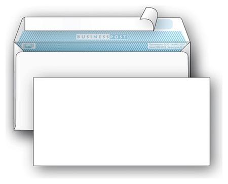 Конверты белый E65стрип Businesspost 110х220 1000шт/уп/1876  Packpost