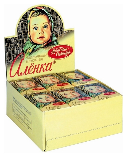 Шоколад аленка 15г 42 шт/уп.  Аленка