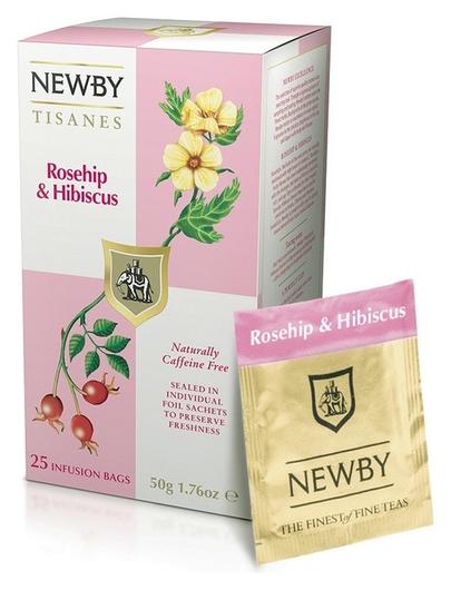 Чай Newby шиповник и гибискус травяной 25 пакетиков  Newby