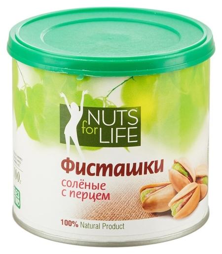 Фисташки Nuts For Life соленая с черным перцем 100 г  Nuts for Life
