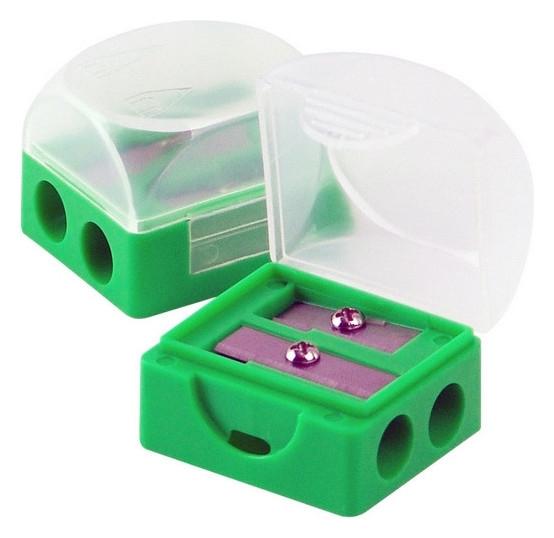 Точилка Attache на 2 отв. с контейнером, цв.зеленый, (138709) 2 шт.  Attache