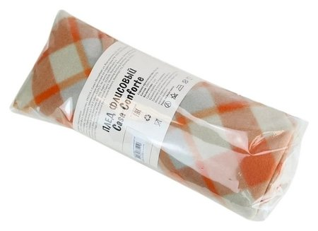 Плед флис бриз оранжевый 120x150  Belezza