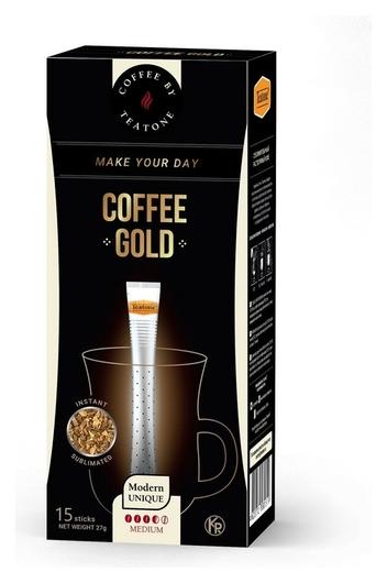 Кофе Teatone Gold в стиках, 15штx1,8г Teatone