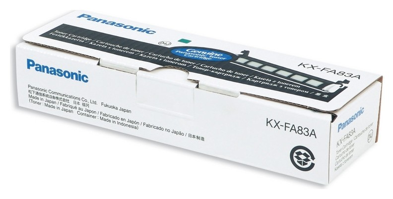 Тонер-картридж Panasonic Kx-fa83a/e/a7 чер. для Kx-flm653/663/513/543  Panasonic