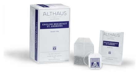 Чай Althaus Deli Packs English Breakfast 20 пакx1,75гр/уп  Althaus