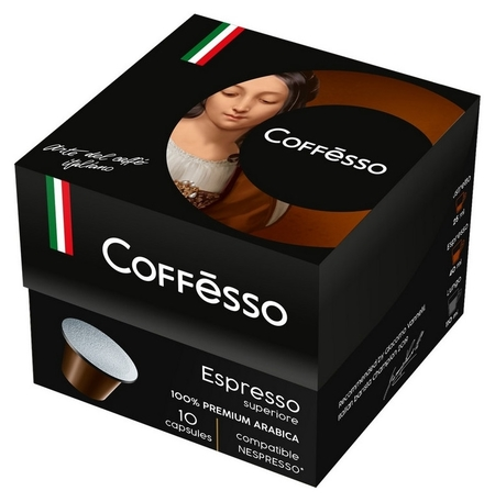Кофе в капсулах Coffesso Espresso Superiore, 10шт  Coffesso
