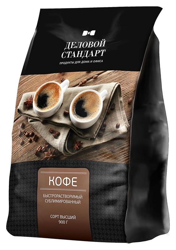 Кофе деловой стандарт раств.субл. 900г пакет  Деловой стандарт