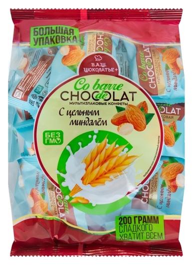 Конфеты Co Barre De Chocolat мультизлаковые с цельным миндалем, 200г  Co barre de Chocolat
