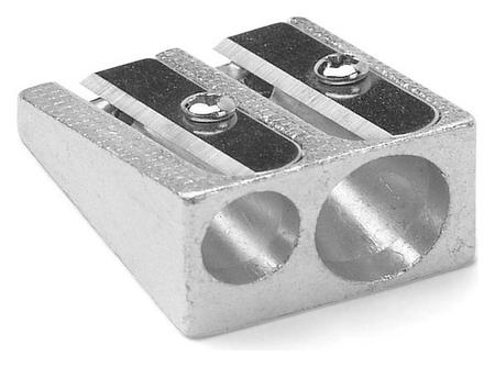 Точилка металлическая два отверстия AG 1006  NNB