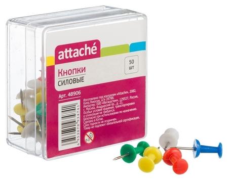 Кнопки для пробковых досок силовые Attache 50 шт./уп. цв. At-alts1002  Attache