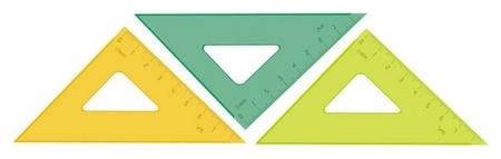 Линейка треугольник 7  см угол 45 градусов пластик тк-22  Стамм