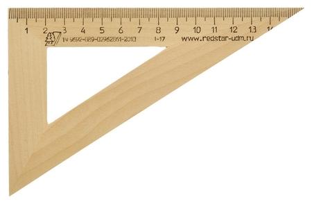Треугольник деревянный 16см ,угол 30 градусов, можга с-139  Можга