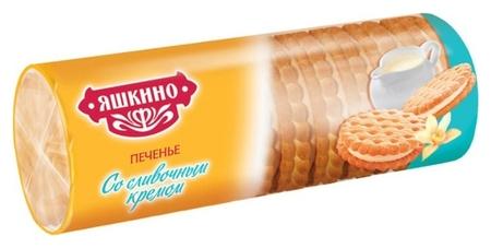 Печенье затяжное яшкино со сливочным кремом 182г мп426  Яшкино