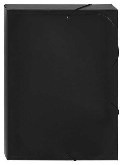Папка на резинках -короб Attache,черный, 40мм, 0,45 Attache
