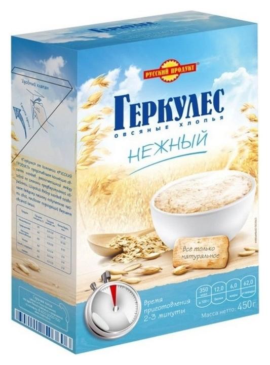 Каша геркулес русский продукт нежный, 450г  Русский продукт